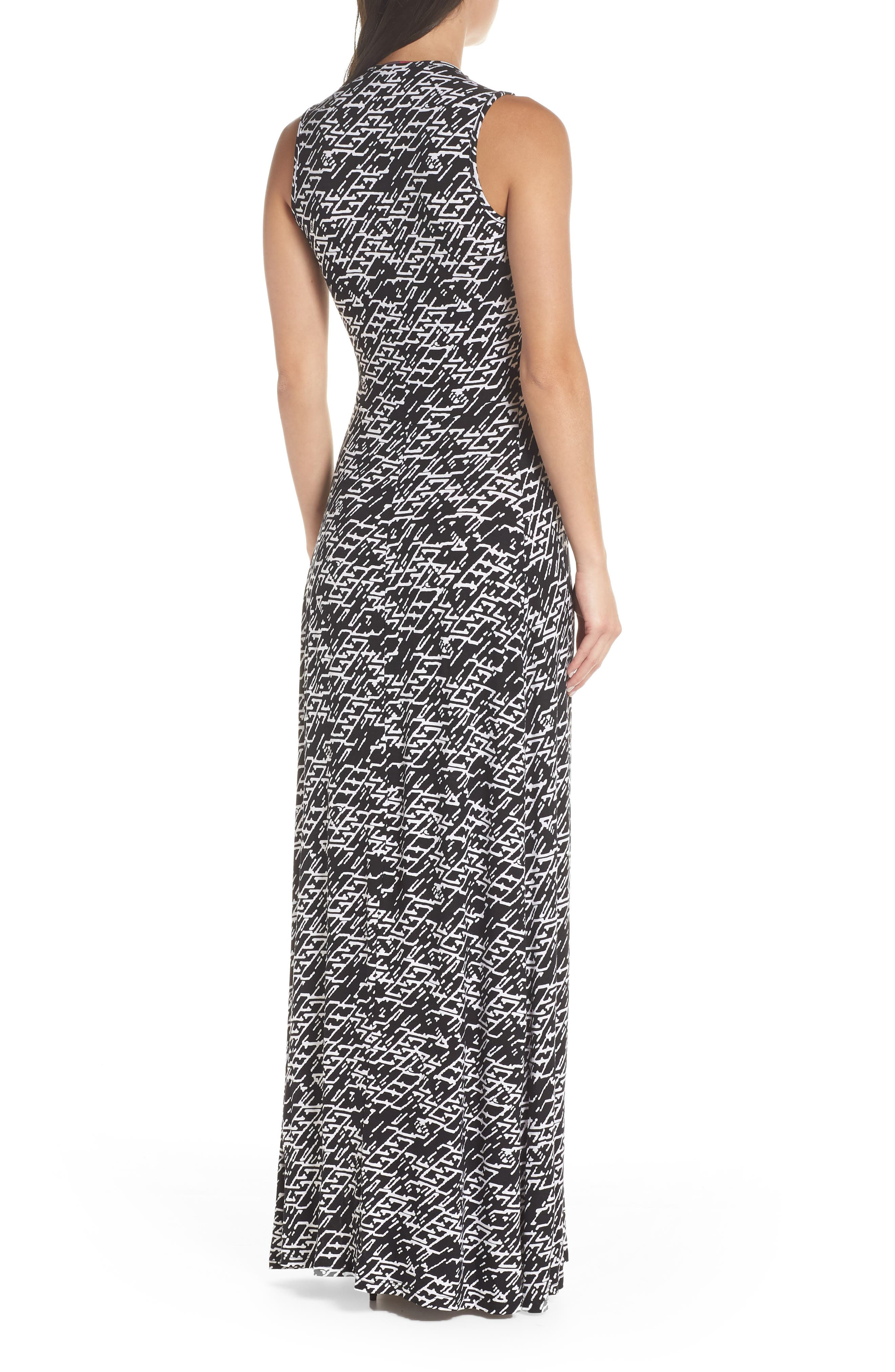 ,                             Plunge Neck Maxi Dress,                             Alternate thumbnail 2, color,                             005