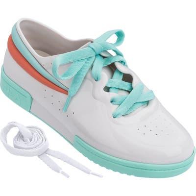 Melissa X Fila Lace-Up Sneaker, White
