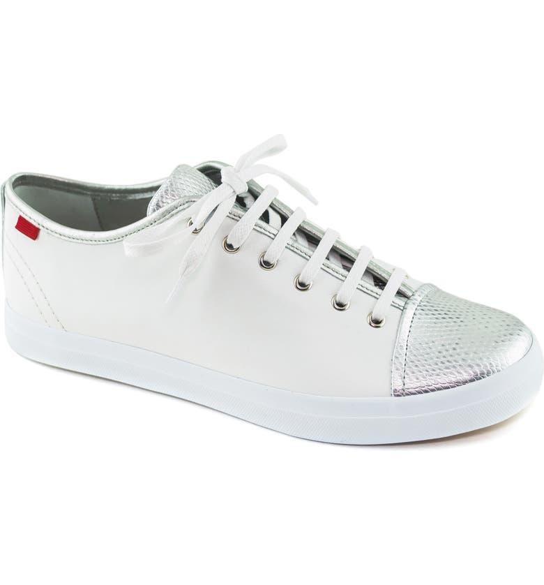 MARC JOSEPH NEW YORK Bleecker Street Sneaker, Main, color, WHITE/ GIPSY SILVER LEATHER