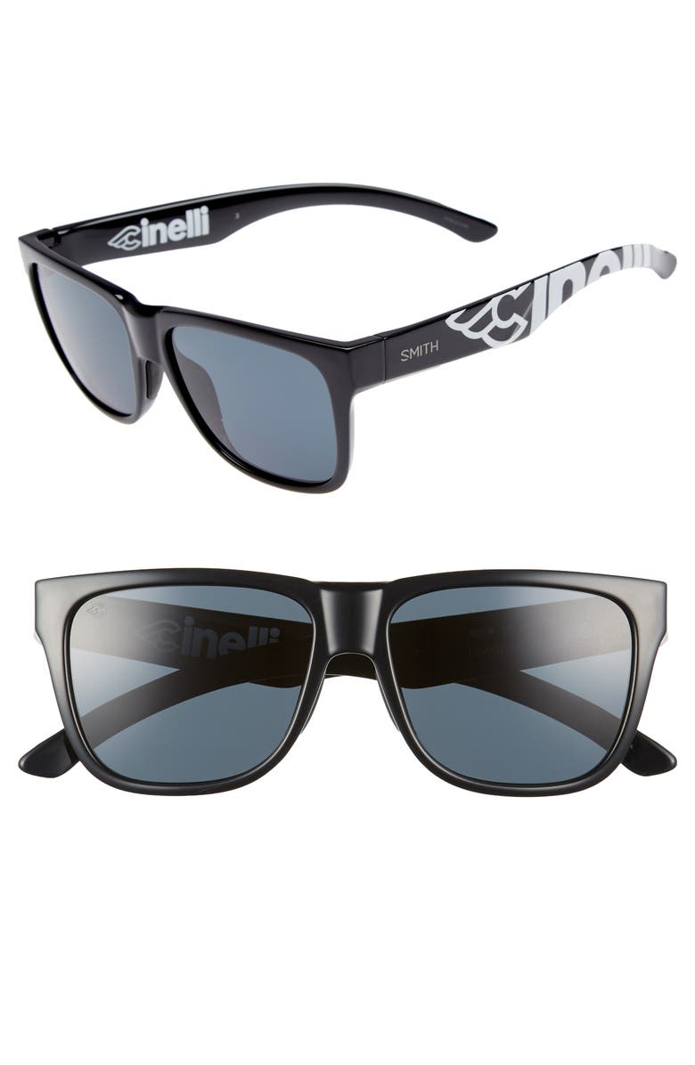 SMITH Lowdown 2 55mm ChromaPop<sup>™</sup> Square Sunglasses, Main, color, 001