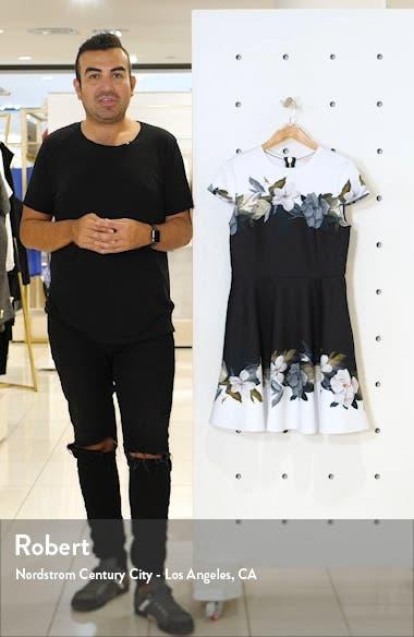 Louva Opal Floral Print Skater Dress, sales video thumbnail