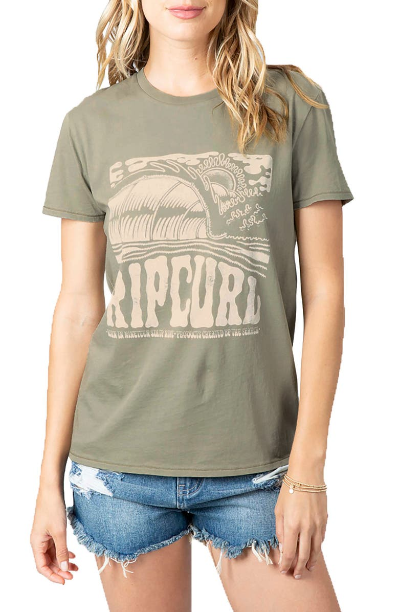 RIP CURL Logo Graphic Tee, Main, color, VETIVER