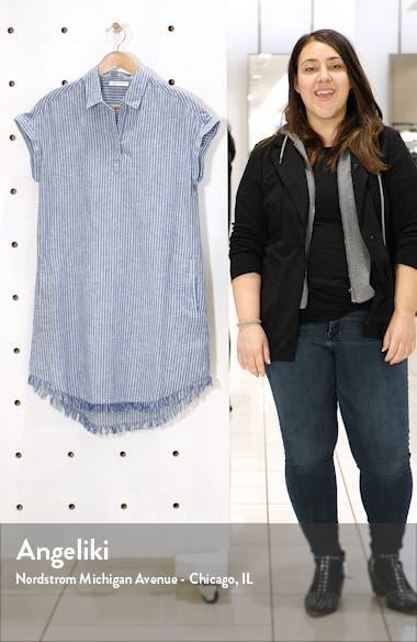 Amalie Fringe Hem Linen & Cotton Dress, sales video thumbnail