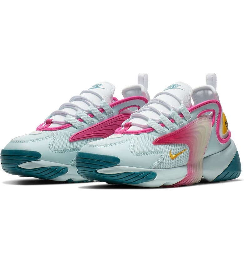 NIKE Zoom 2K Sneaker, Main, color, TEAL TINT/ GOLD/ SPIRIT TEAL