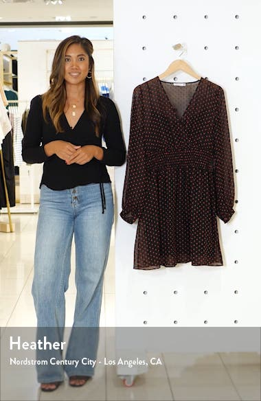 Gracie Long Sleeve Swiss Dot Minidress, sales video thumbnail