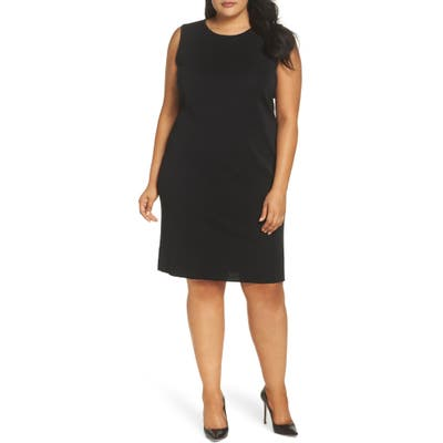 Plus Size Ming Wang Knit Tank Dress, Black
