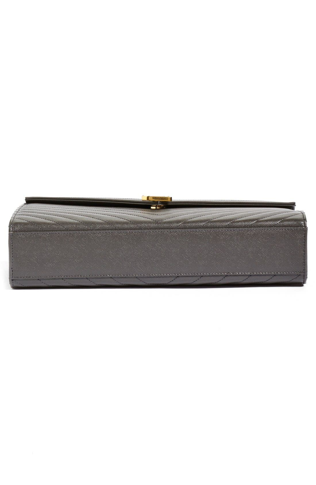,                             'Large Monogram' Grained Leather Shoulder Bag,                             Alternate thumbnail 24, color,                             021