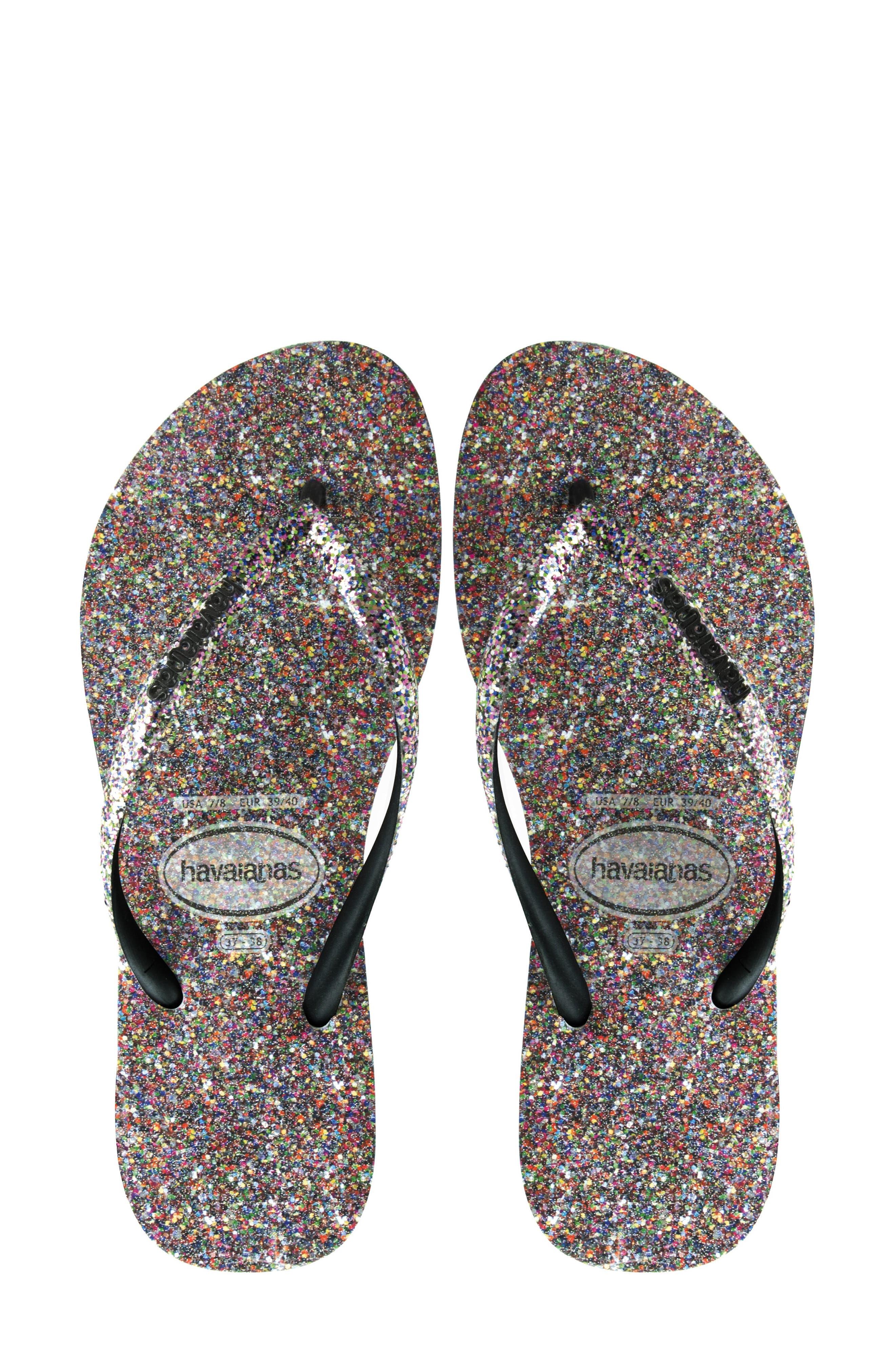 Havaianas Slim Glitter Flip Flop (Women