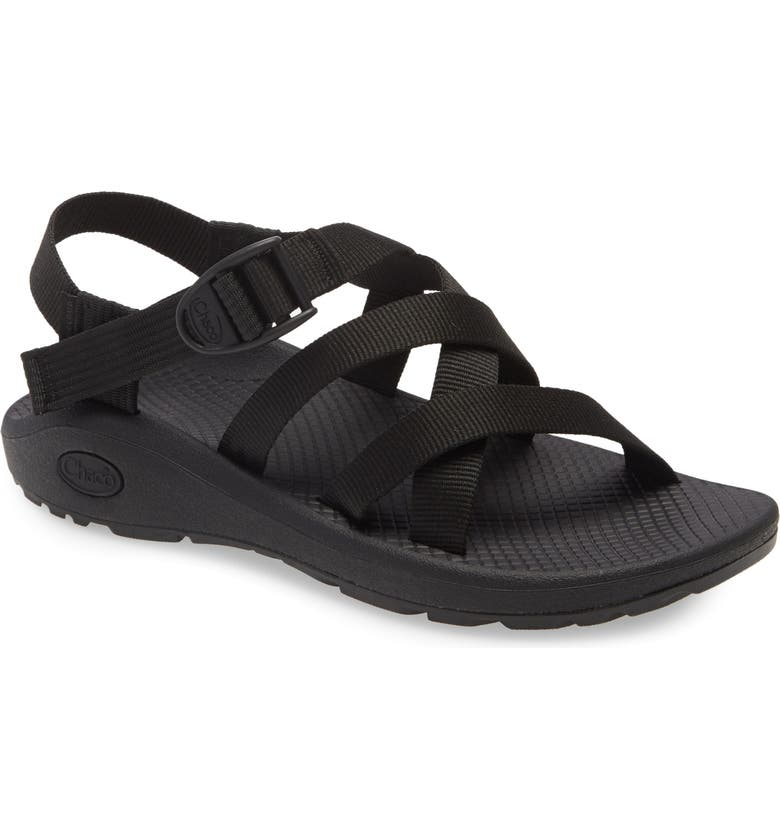 CHACO Z/Cloud Sport Sandal, Main, color, SOLID BLACK FABRIC