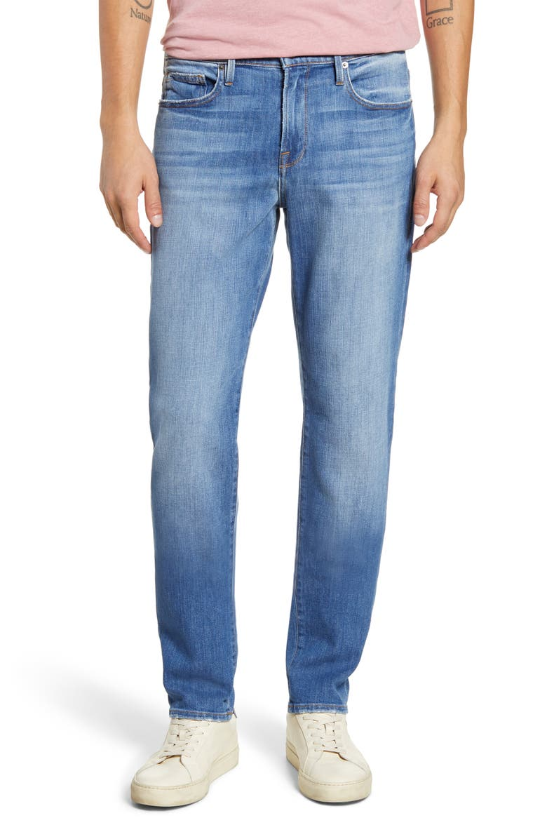 FRAME L'Homme Athletic Slim Fit Jeans, Main, color, HEISTAND