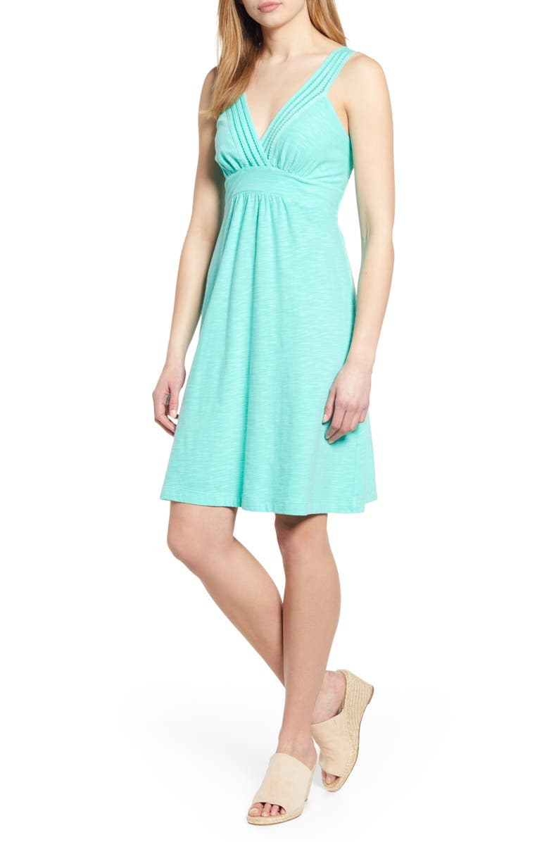 TOMMY BAHAMA Arden Cotton & Modal Sundress, Main, color, SEAPORT TEAL