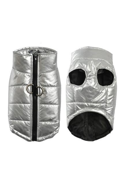 Image of Dogs of Glamour Puffy Vest - Large - Silver