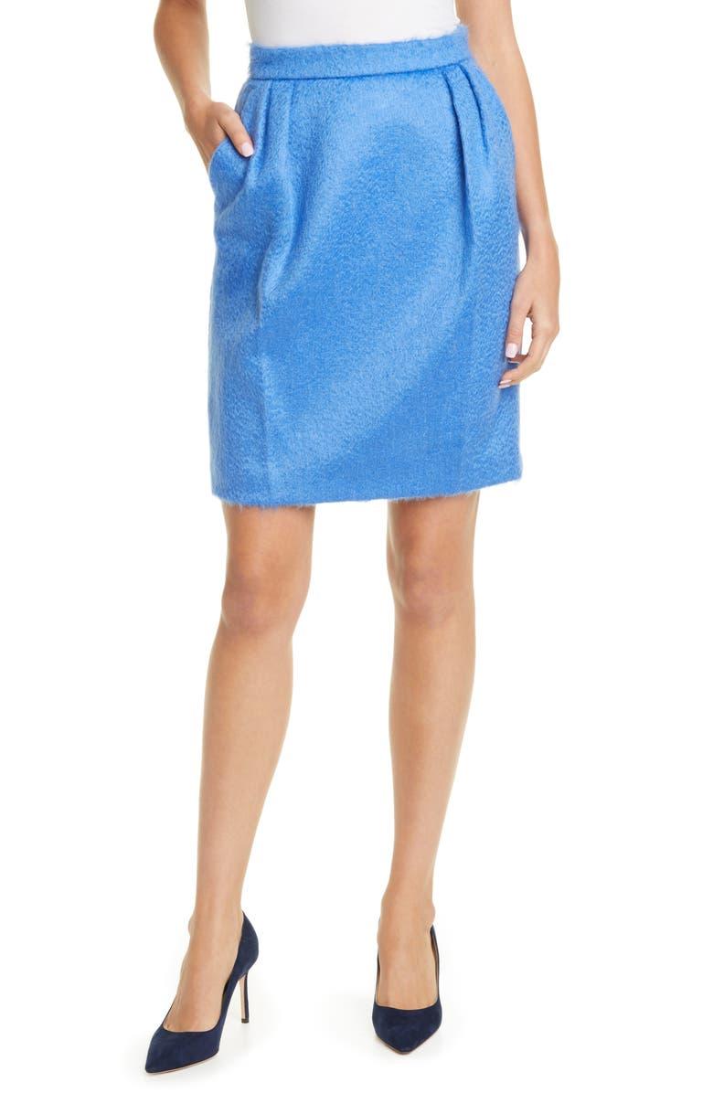 MAX MARA Turchia Mohair Blend Skirt, Main, color, 400