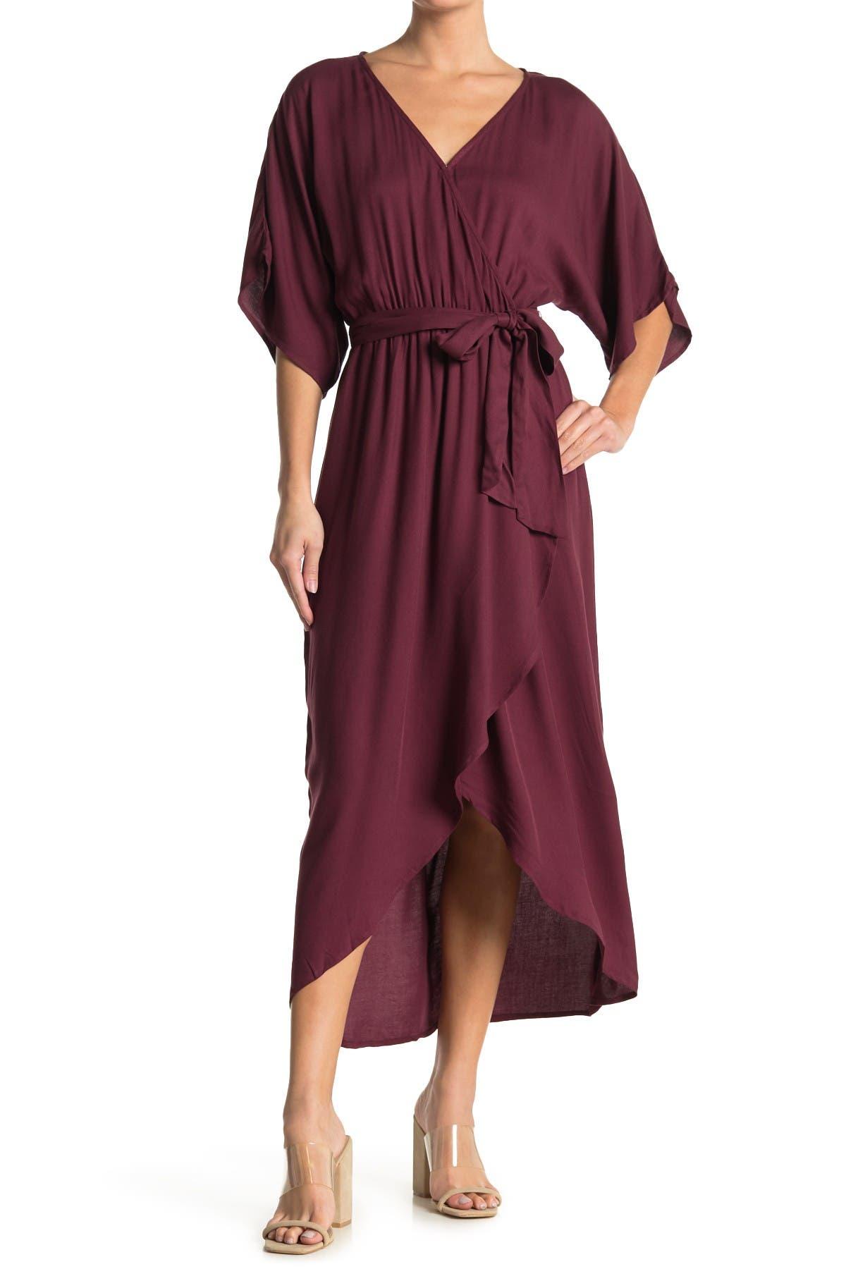 Image of Love Stitch Wrap Waist Tie Midi Dress