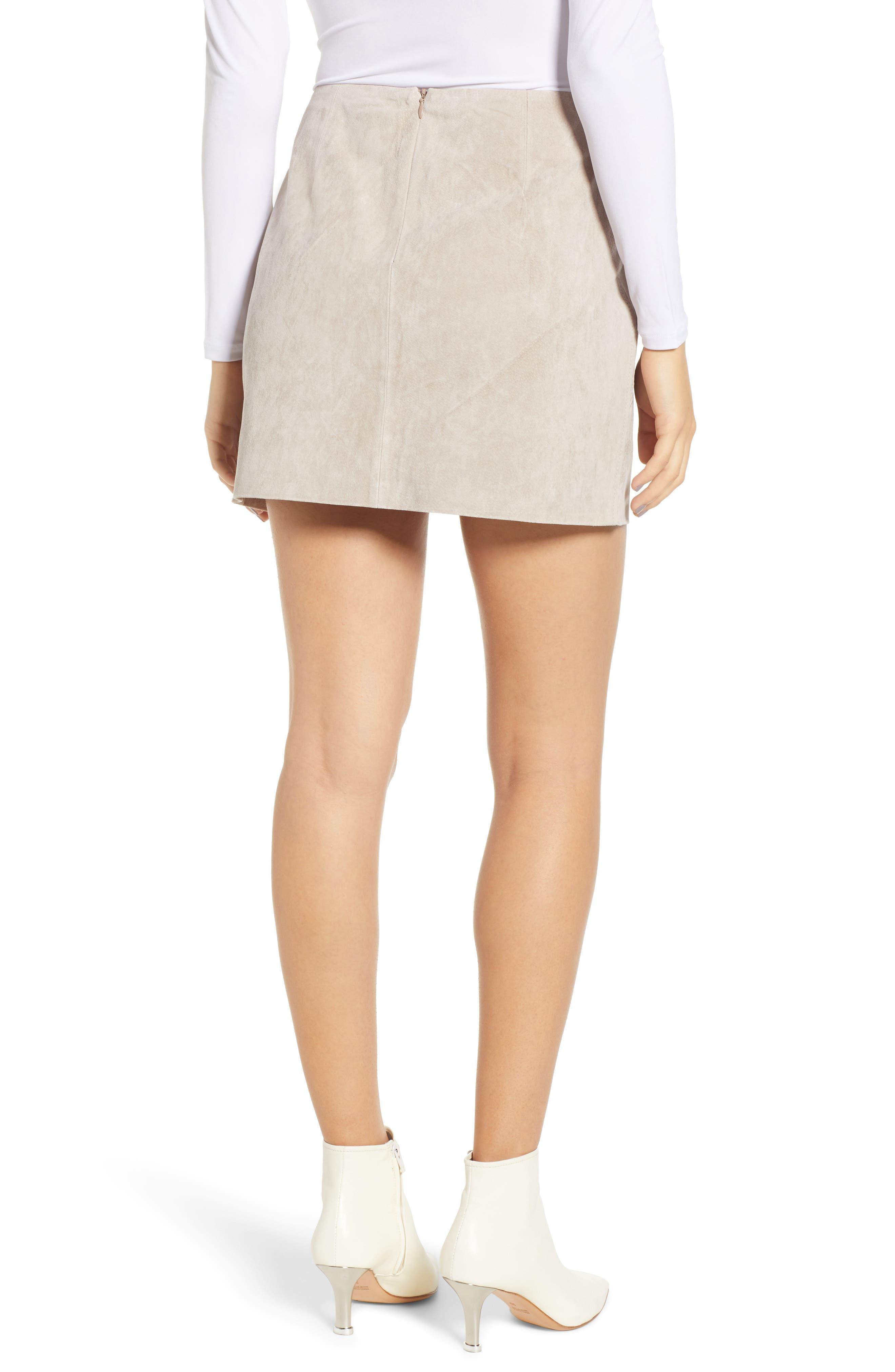 ,                             Lace-Up Suede Miniskirt,                             Alternate thumbnail 8, color,                             251