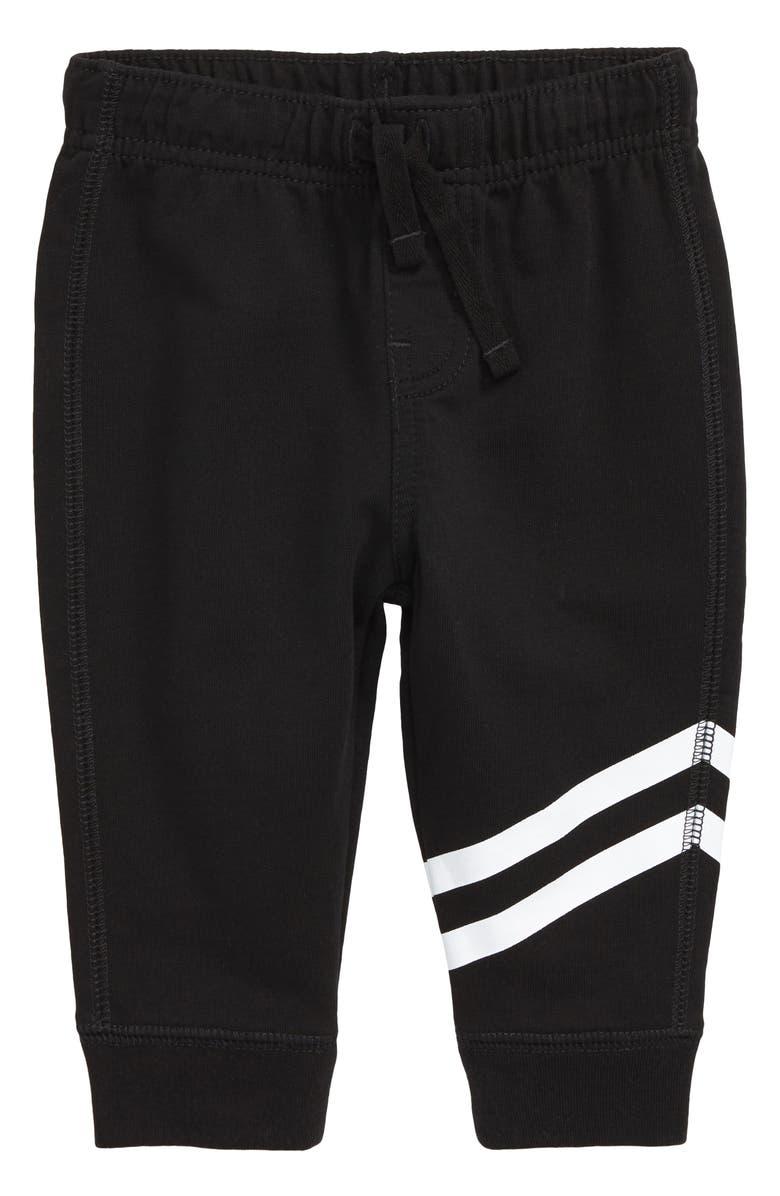 TEA COLLECTION Sporty Stripe Jogger Pants, Main, color, JET BLACK