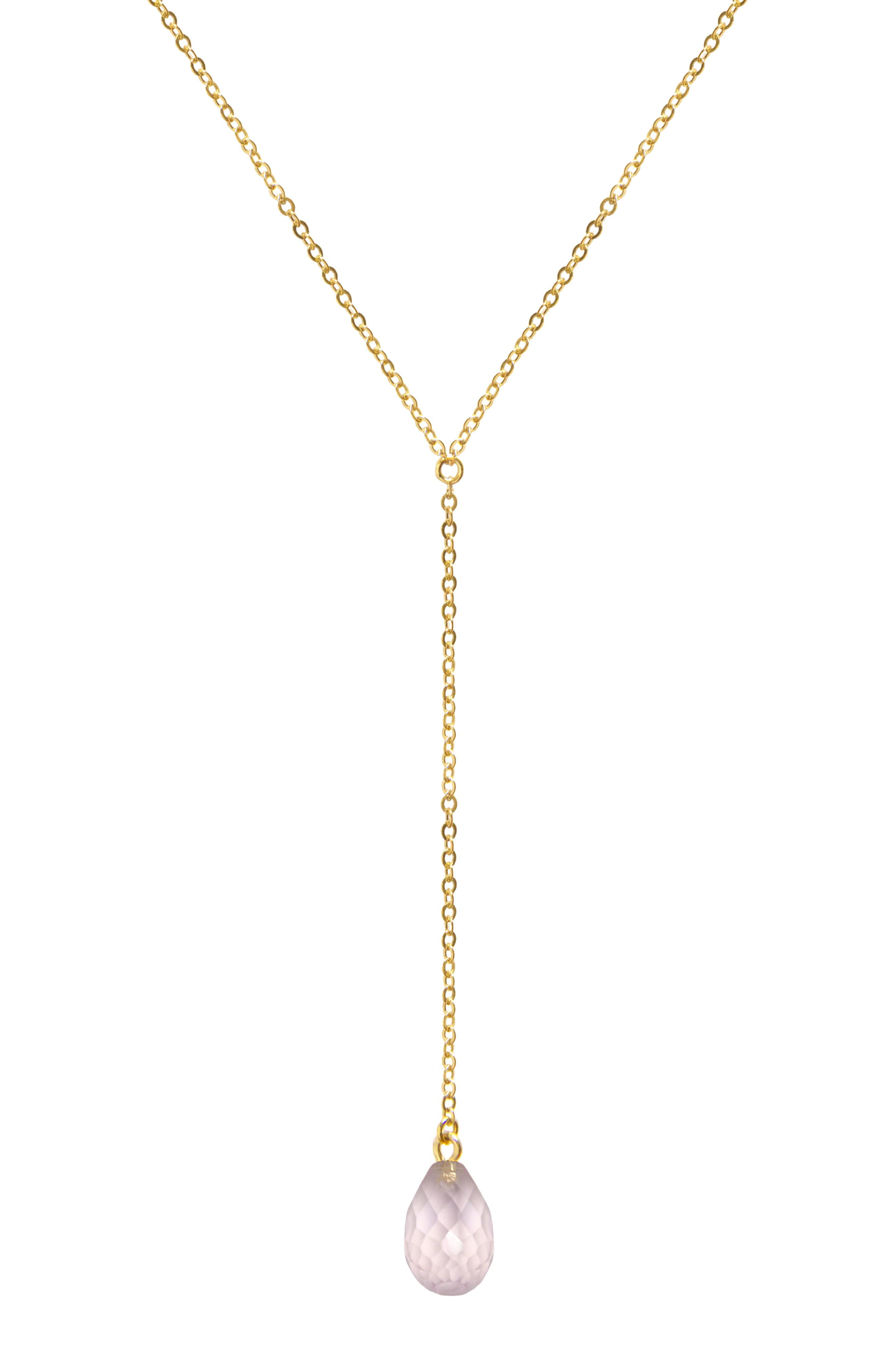 Briolette Gemstone Y-Necklace
