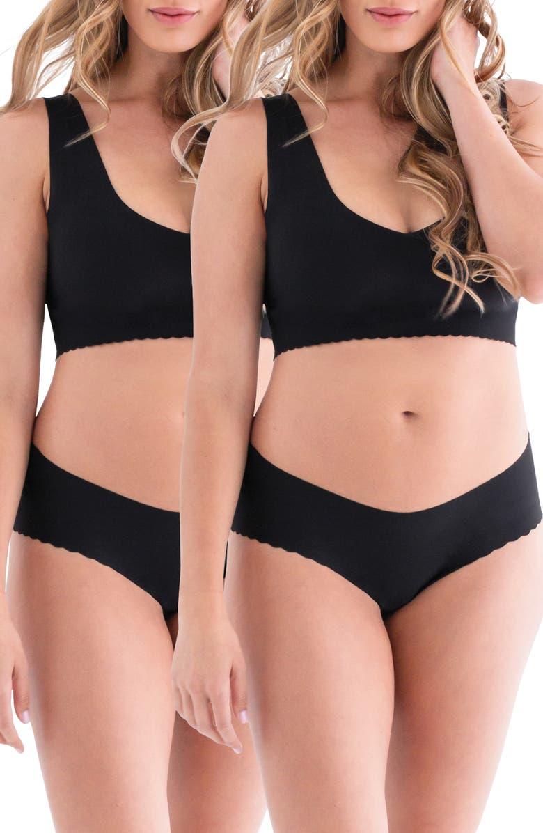 BELLY BANDIT<SUP>®</SUP> Anti Panti<sup>®</sup> Leak-Resistant 2-Pack Panties, Main, color, BLACK
