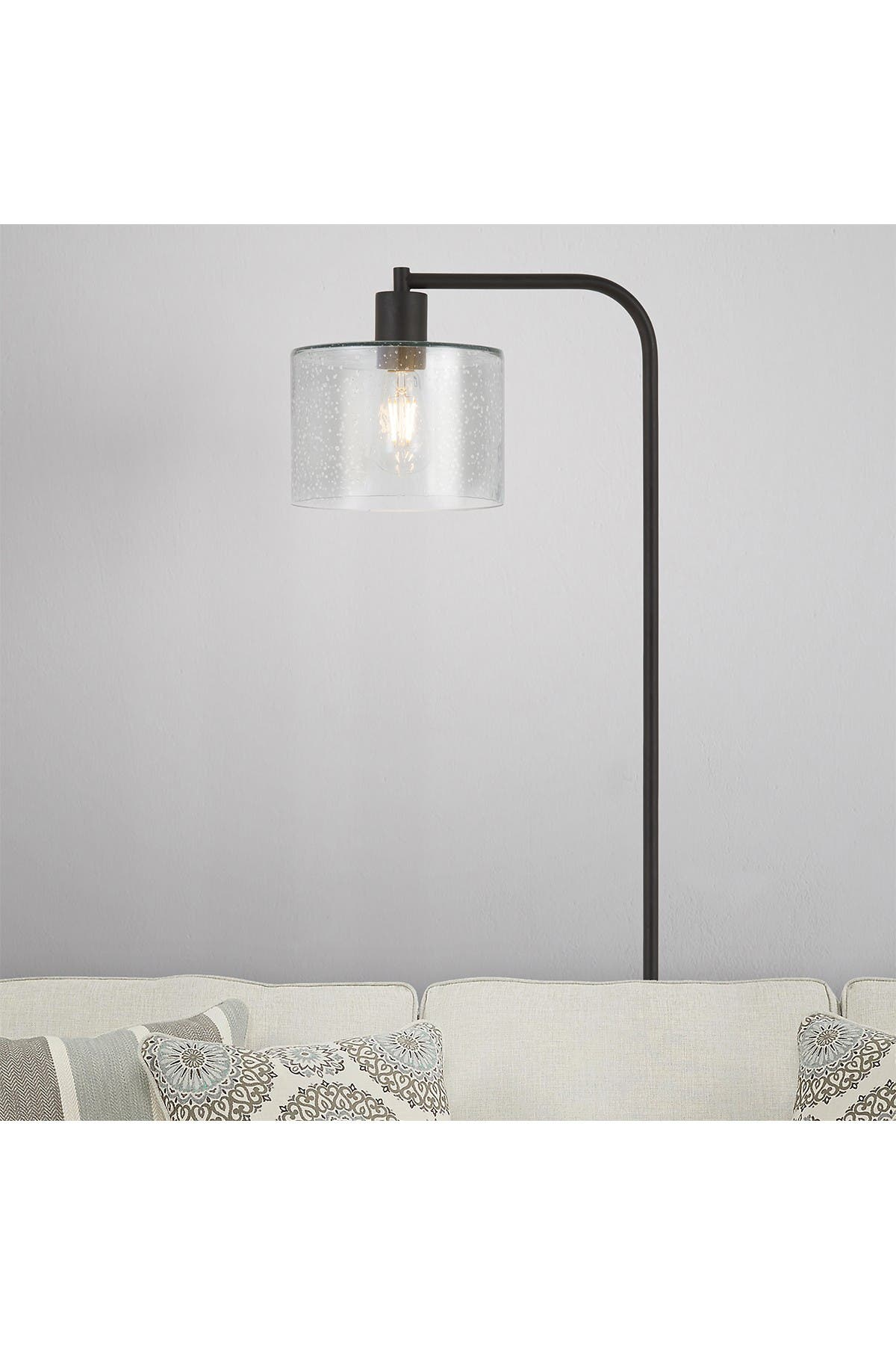 Image of Addison and Lane Cadmus Floor Lamp with Seeded Glass Shade