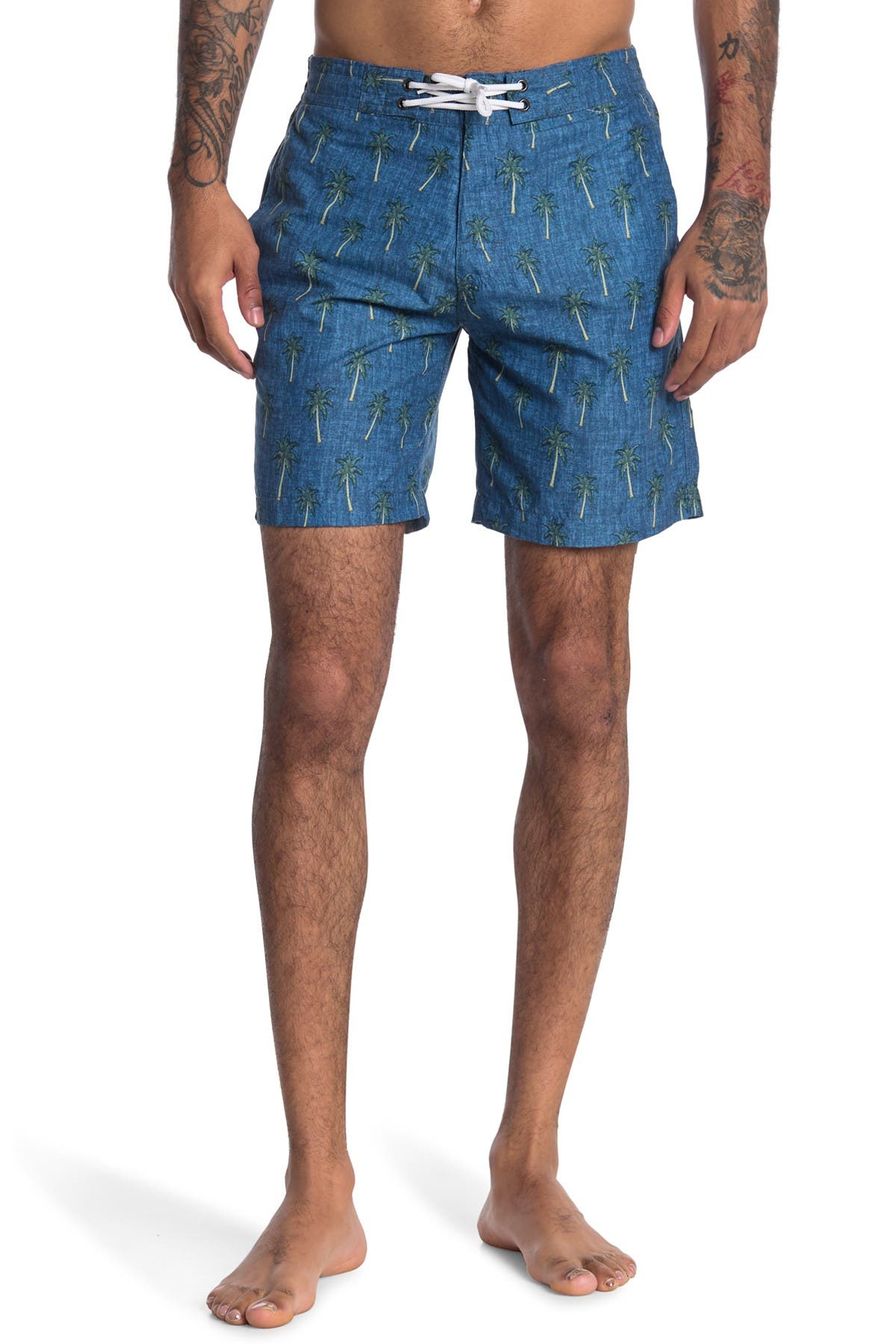 Image of Trunks Surf and Swim CO. Swami Palm Tree Board Shorts