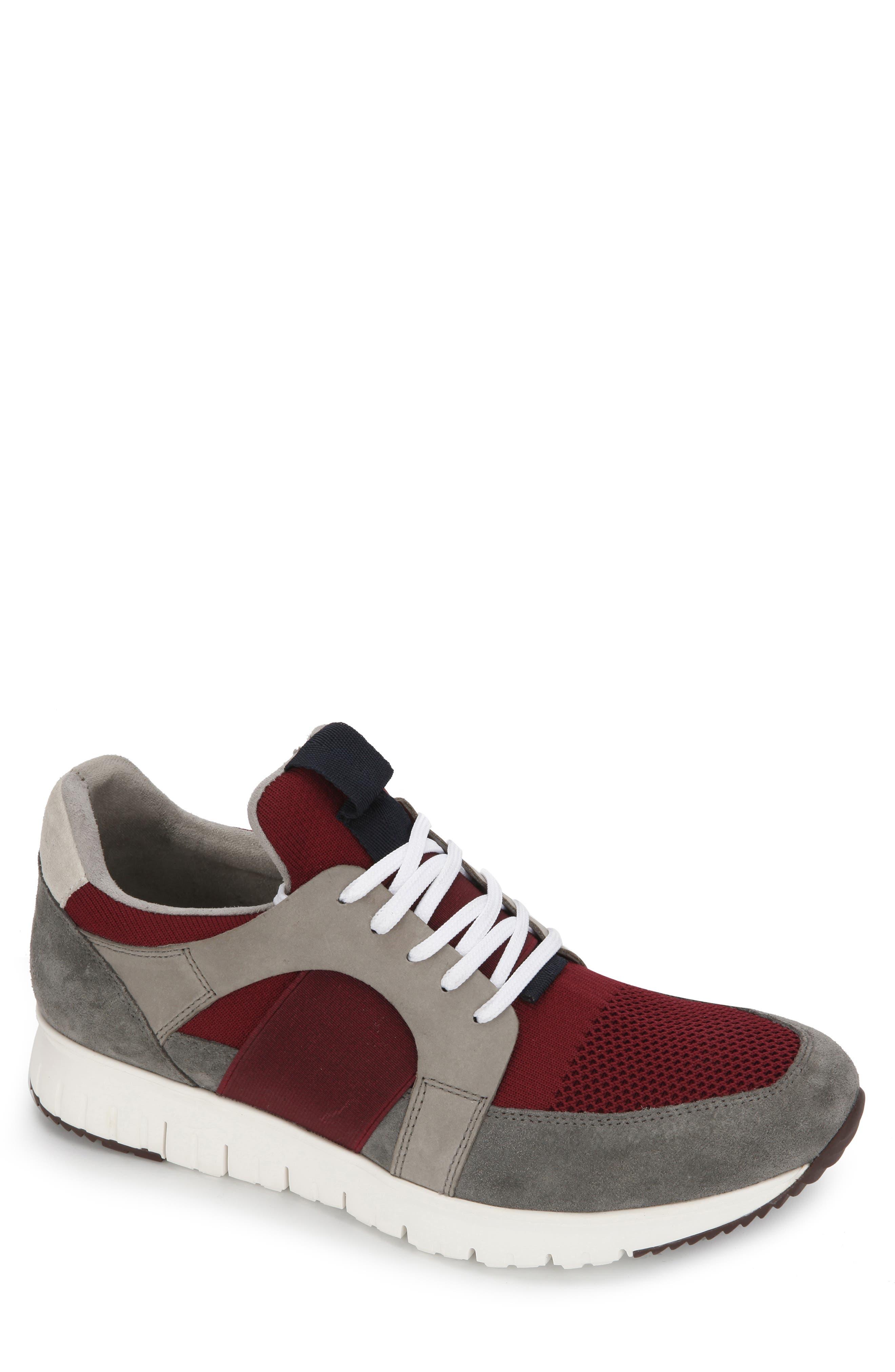 Bailey Sneaker, Main, color, BORDEAUX LEATHER