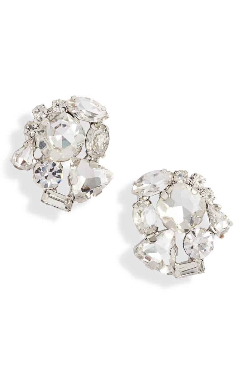 CRISTABELLE Crystal Cluster Stud Earrings, Main, color, 040