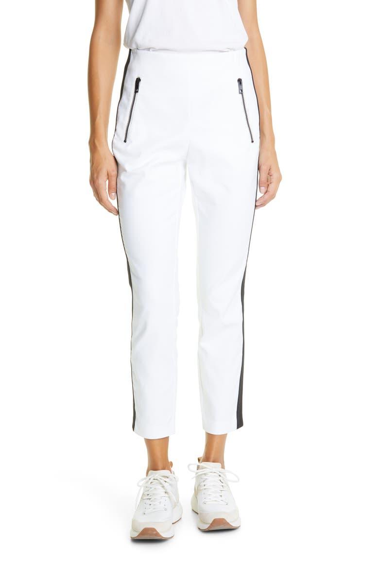RAG & BONE Simone Side Stripe Ankle Pants, Main, color, 100