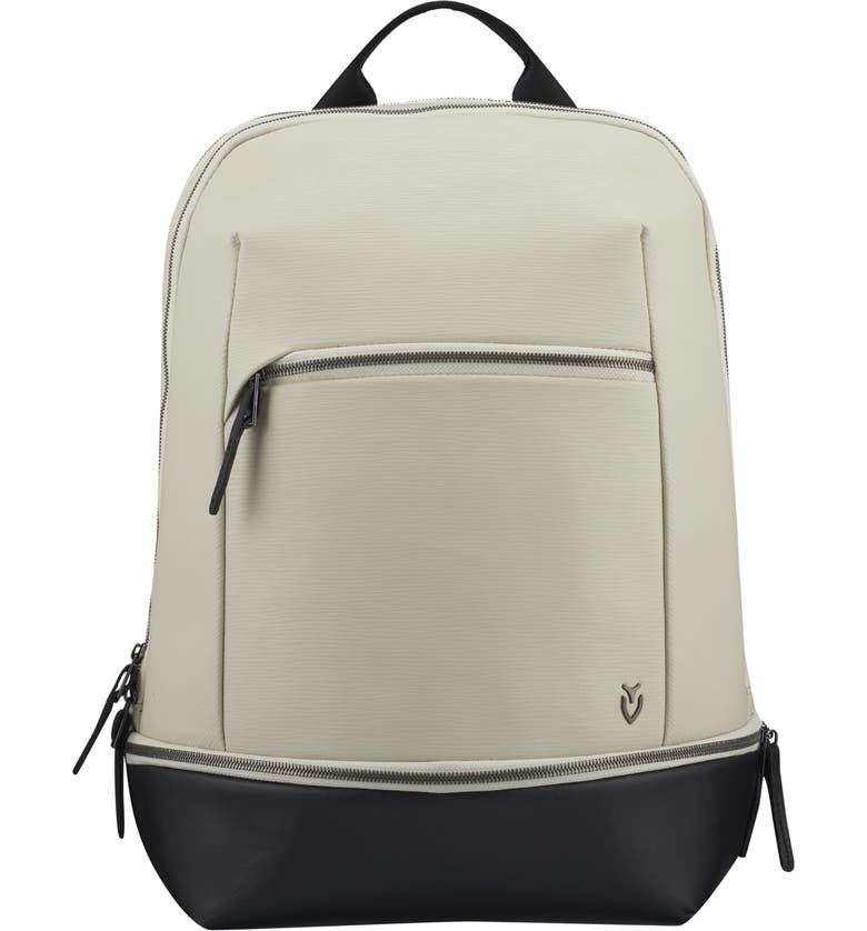 VESSEL Signature 2.0 Faux Leather Backpack, Main, color, STONE/ BLACK