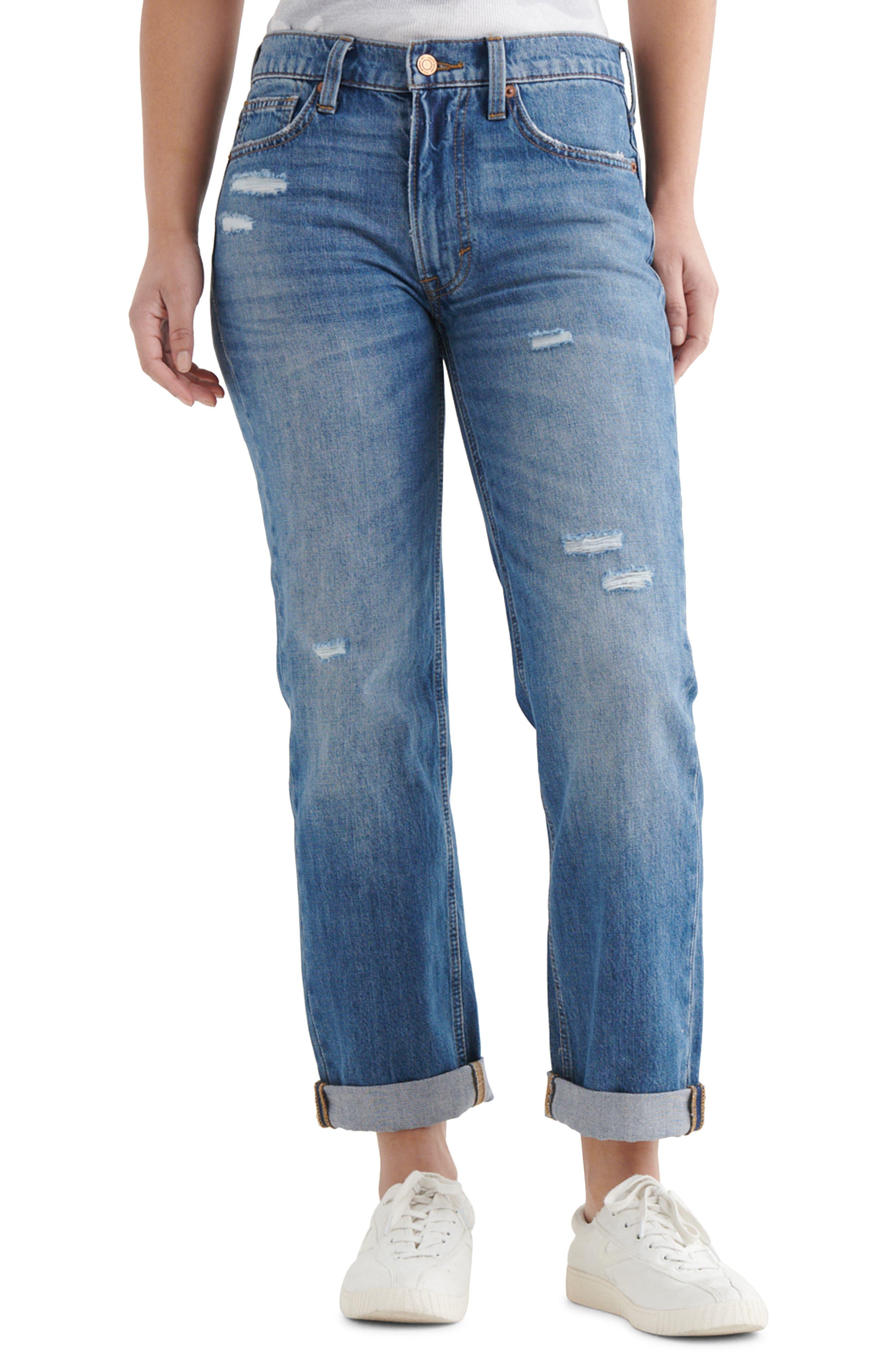 The Boy Jean Distressed Straight Leg Jeans