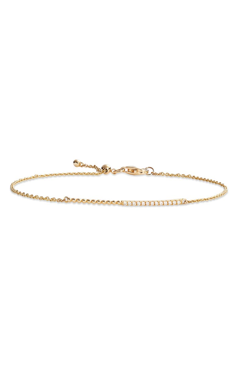 BONY LEVY Diamond & 18K Gold Bead Bracelet, Main, color, YELLOW GOLD/ DIAMOND
