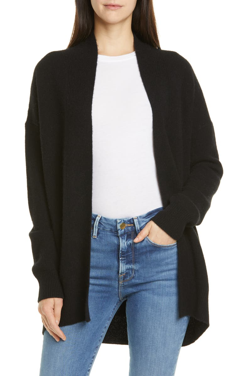 Rib Trim Wool & Cashmere Cardigan by Vince