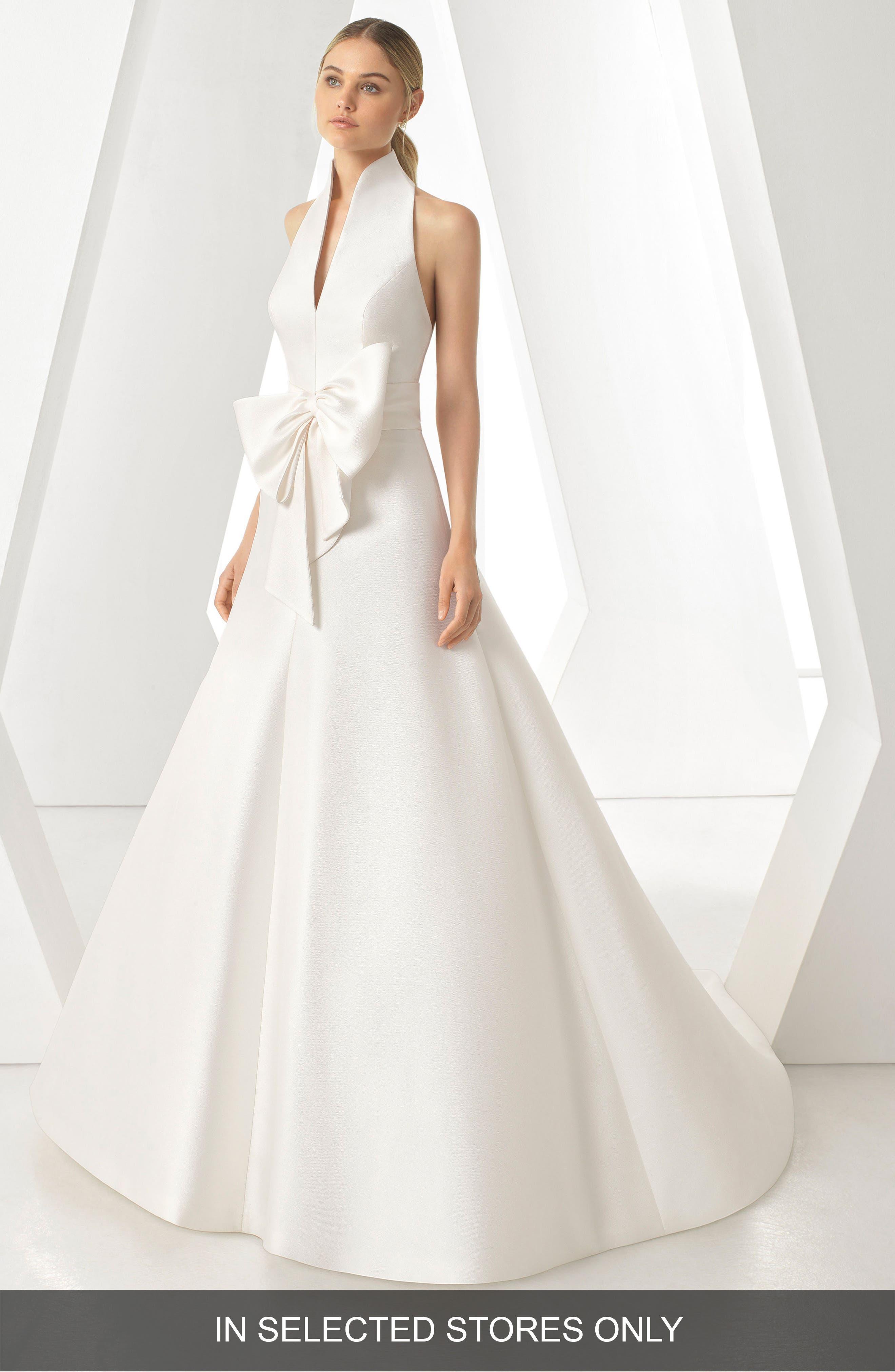 Rosa Clara Dores Halter Neck Ballgown, Size IN STORE ONLY - Ivory