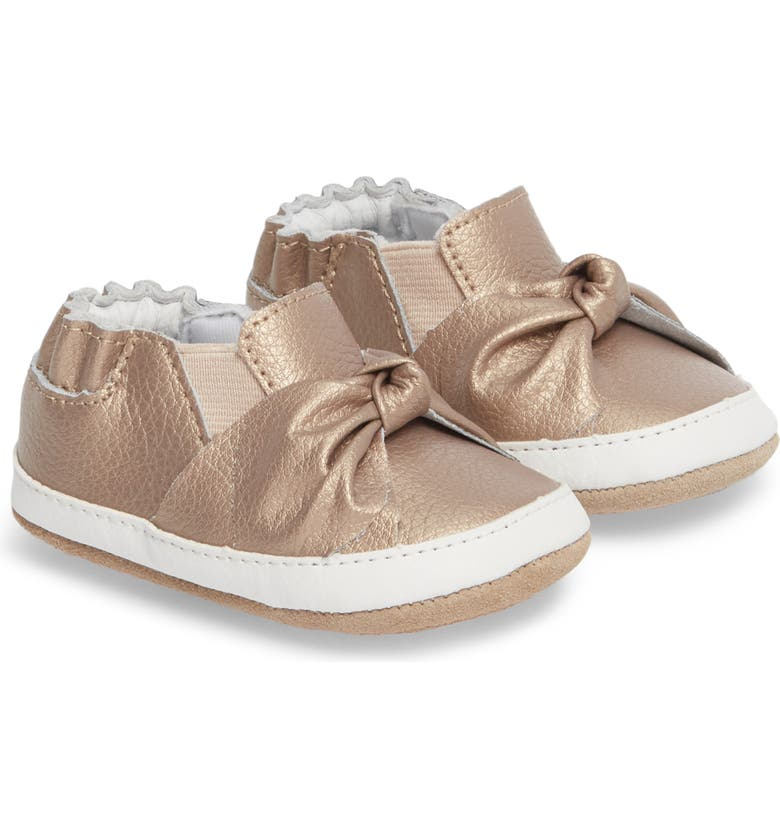 ROBEEZ<SUP>®</SUP> Bella's Bow Slip-On Crib Shoe, Main, color, 710