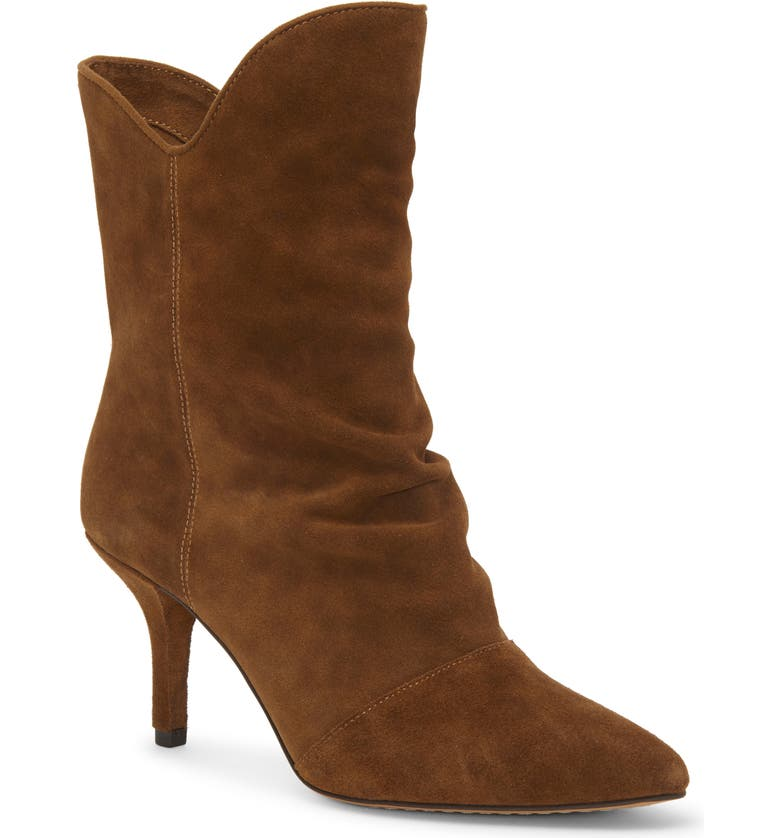 VINCE CAMUTO Andrissa Bootie, Main, color, BROWN MOSS SUEDE