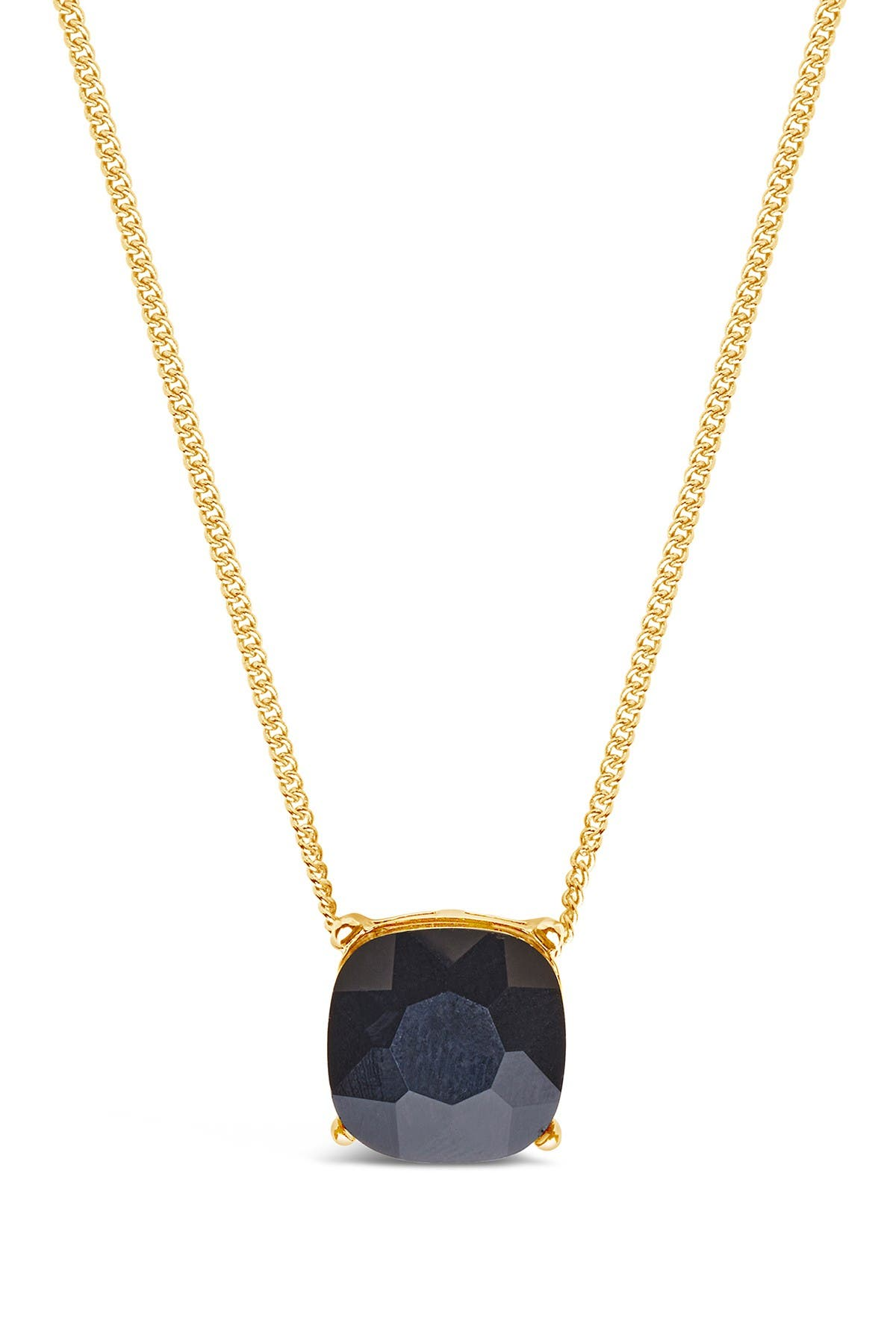 Image of Sterling Forever 14K Gold Plated Brass Black Haymond Necklace