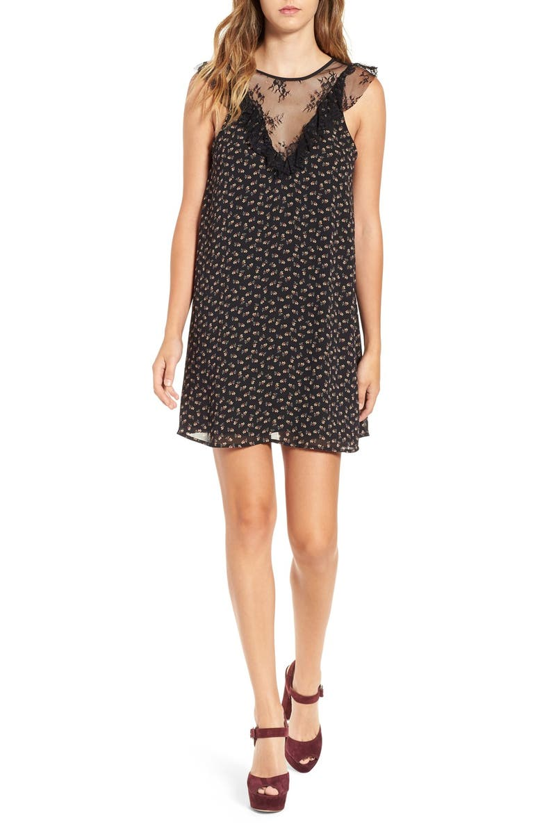 Wayf Andrea Lace Inset Shift Dress Nordstrom
