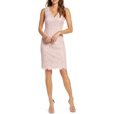 Vince Camuto Lace Sheath Dress, Pink