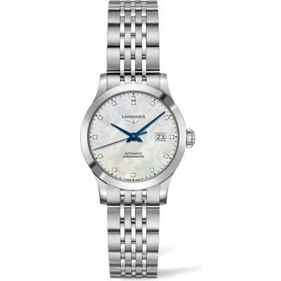 Longines Record Diamond Bracelet Watch, 30Mm