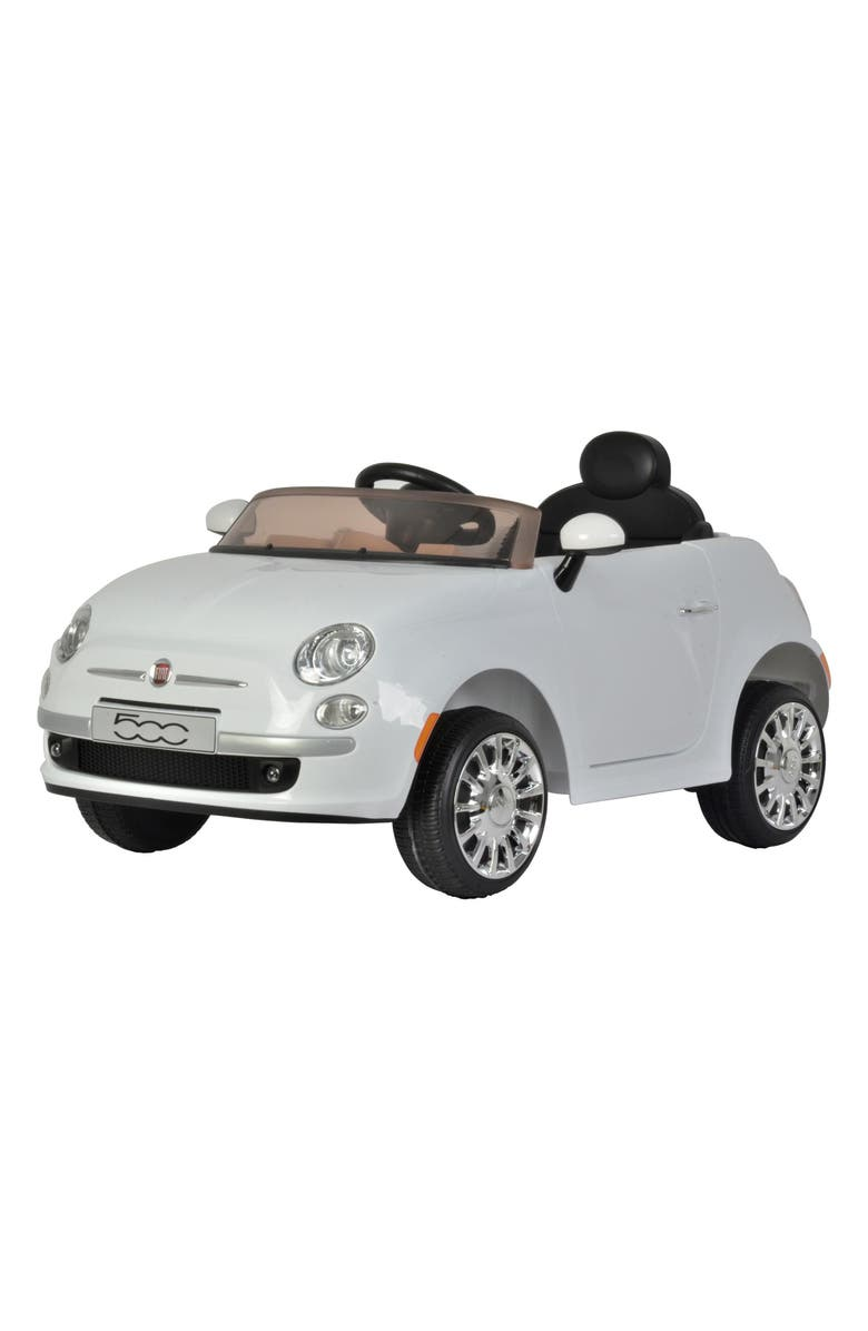 BEST RIDE ON CARS FIAT 500 Ride-On Toy Car, Main, color, WHITE