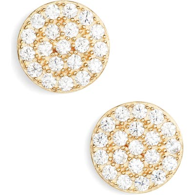Nordstrom Pave Disc Stud Earrings