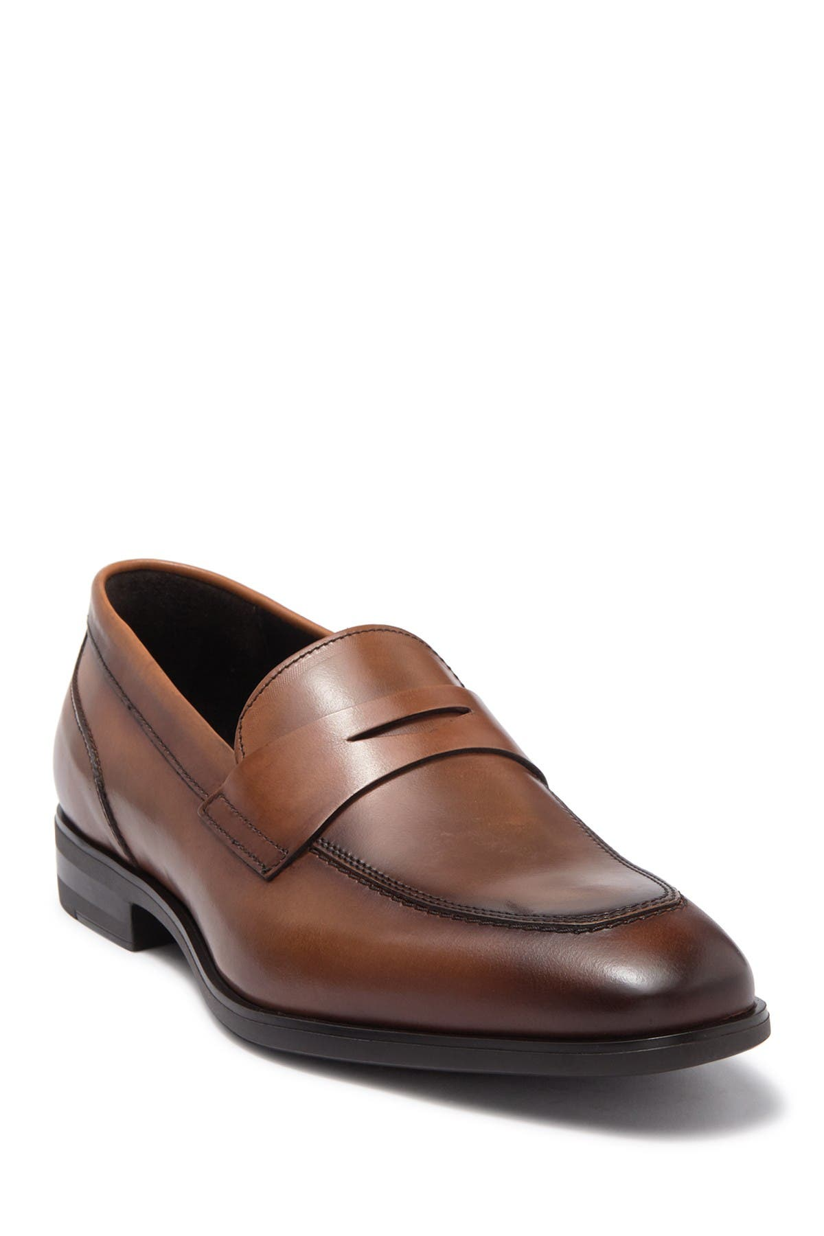 Image of Bruno Magli Boris Leather Penny Loafer