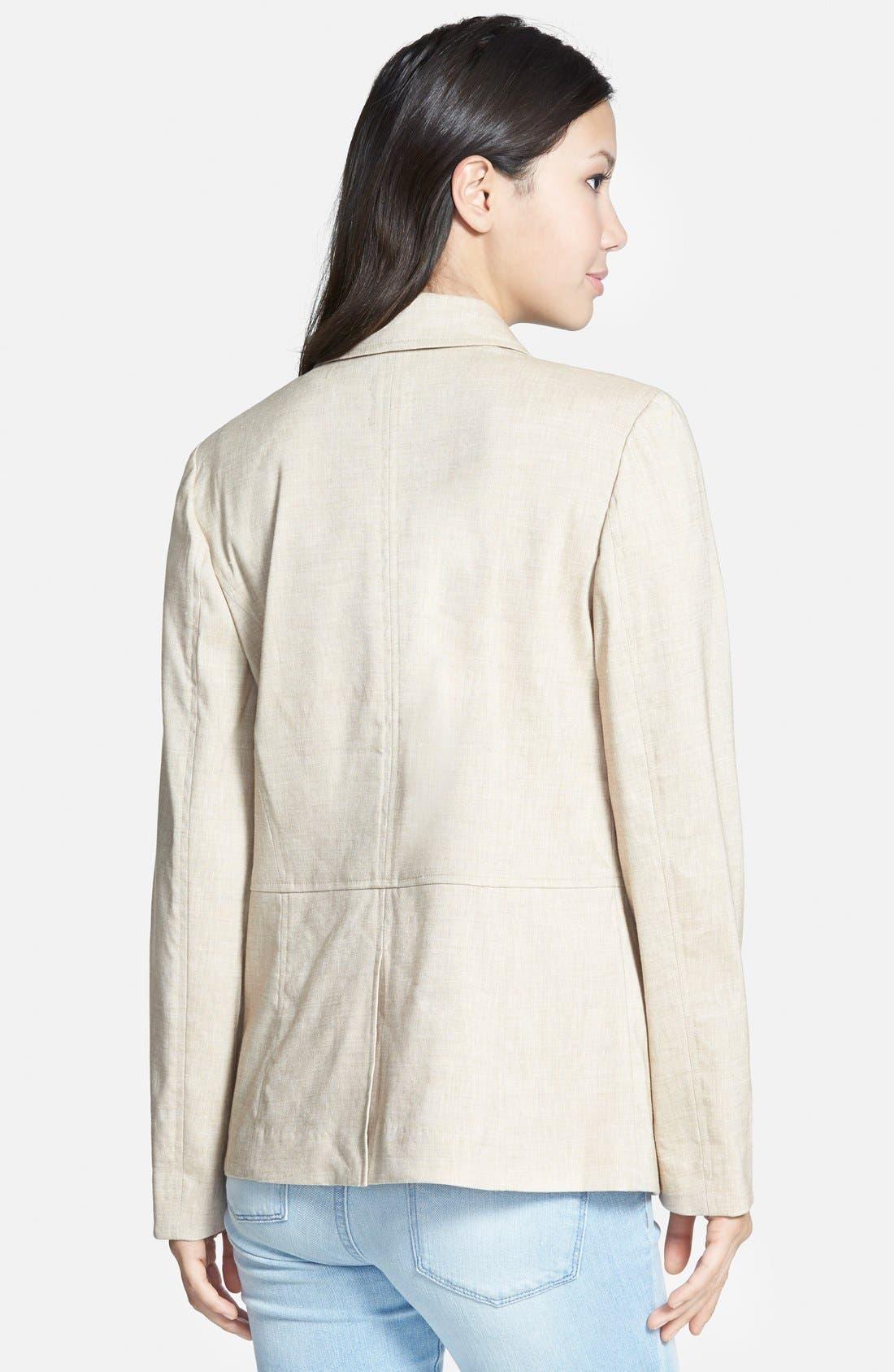 ,                             Seamed Back Linen Blend Blazer,                             Alternate thumbnail 5, color,                             250