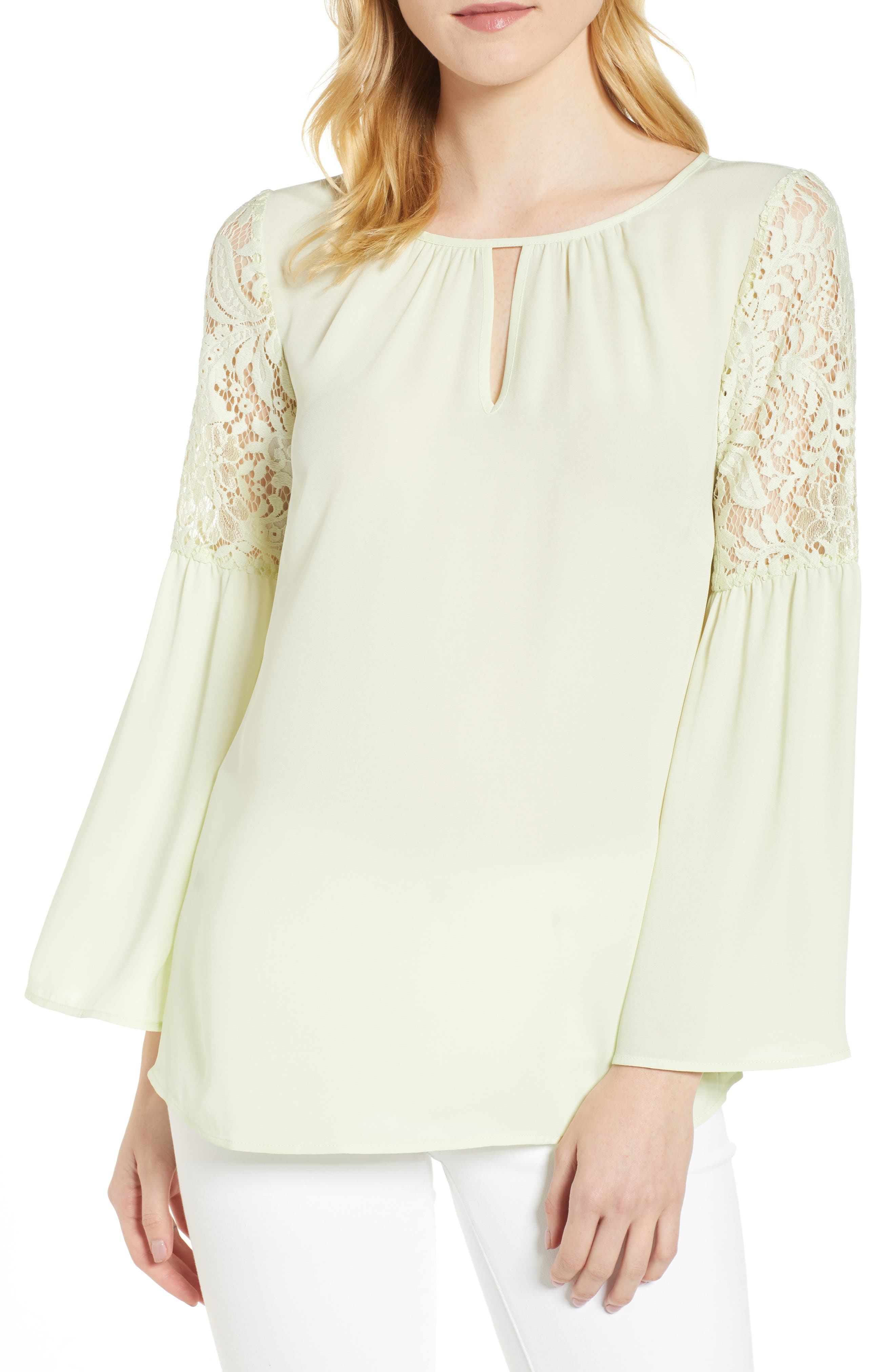 ,                             Lace Bell Sleeve Top,                             Main thumbnail 14, color,                             330