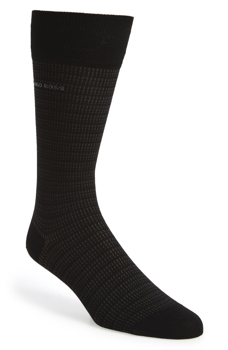 BOSS Micro Jacquard Socks, Main, color, 001