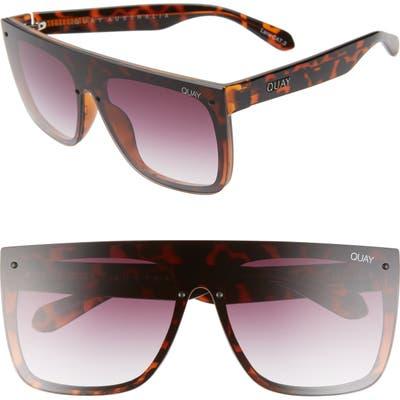Quay Australia X Lizzo Jaded 14m Flat Top Sunglasses - Tortoise/ Purple Fade