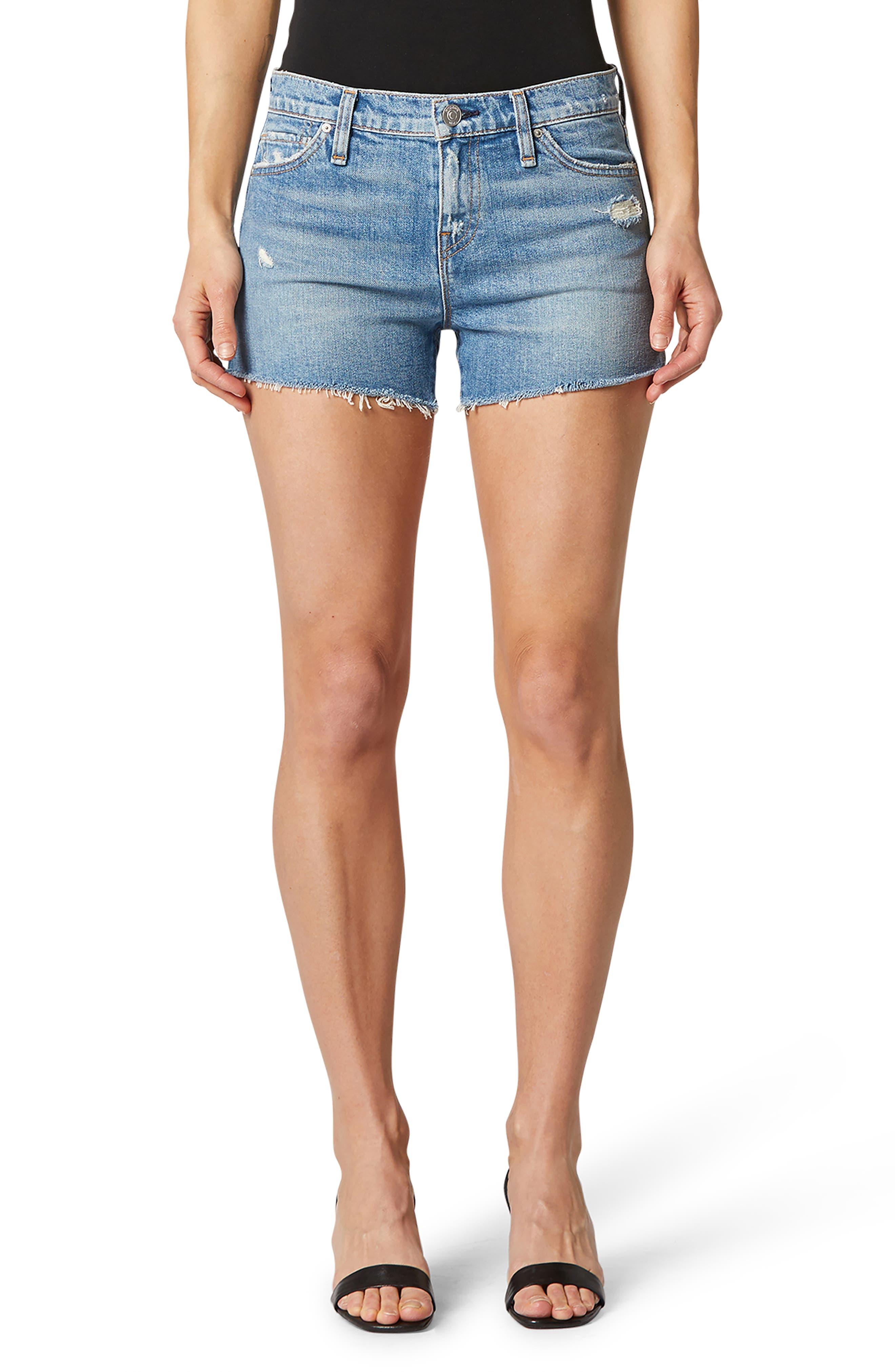 Gemma High Waist Cutoff Denim Shorts