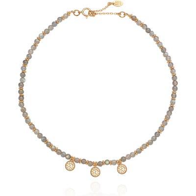 Anna Beck Labradorite Beaded Charm Necklace