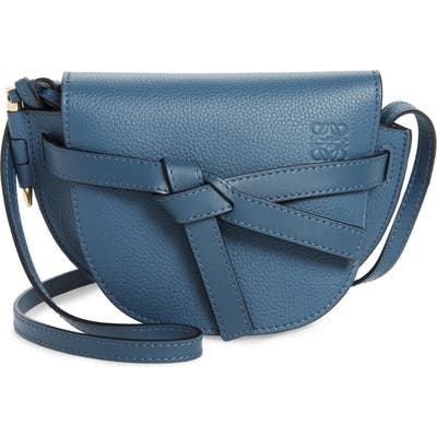 Loewe Gate Mini Leather Crossbody Bag - Blue