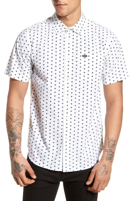 Image of Obey Brighton Short Sleeve Slim Fit Shirt