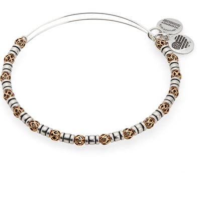 Alex And Ani Orbit Two-Tone Adjustable Wire Bangle